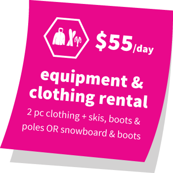Equipment and Clothing Rental